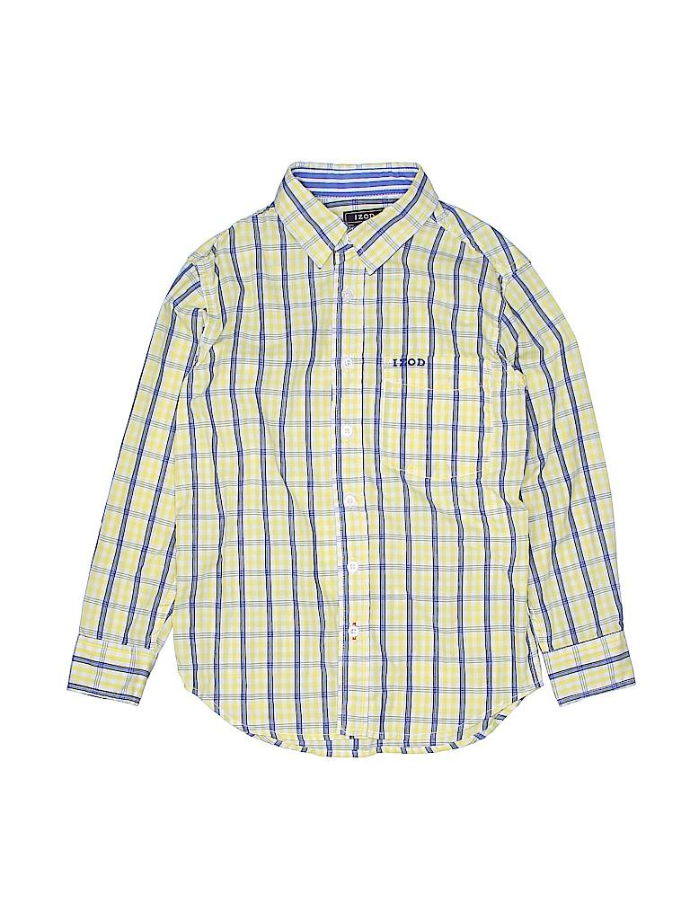 IZOD Boys Long Sleeve Button-Down Shirt Size 8 - 10