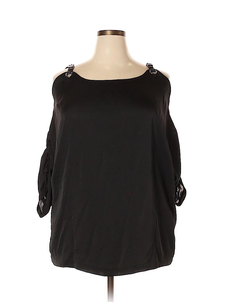 MICHAEL Michael Kors Women 3/4 Sleeve Blouse Size 2X (Plus)