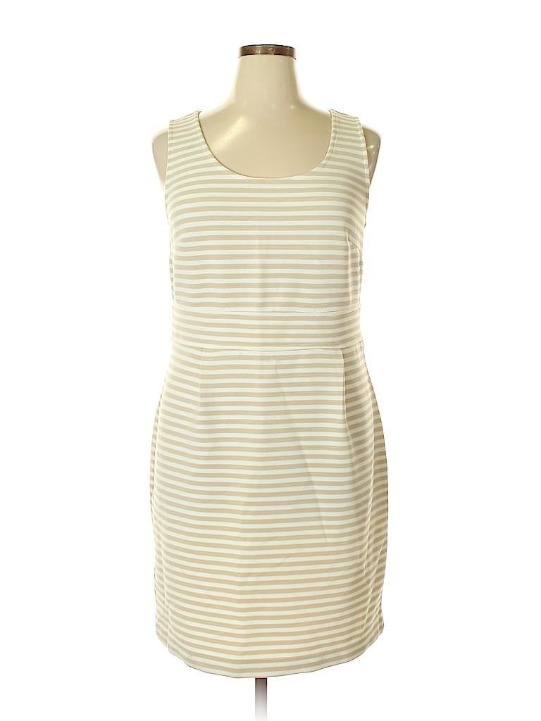 e51b11aa59 Ann Taylor LOFT Outlet Tan Casual Dress Size 16 - 27% off