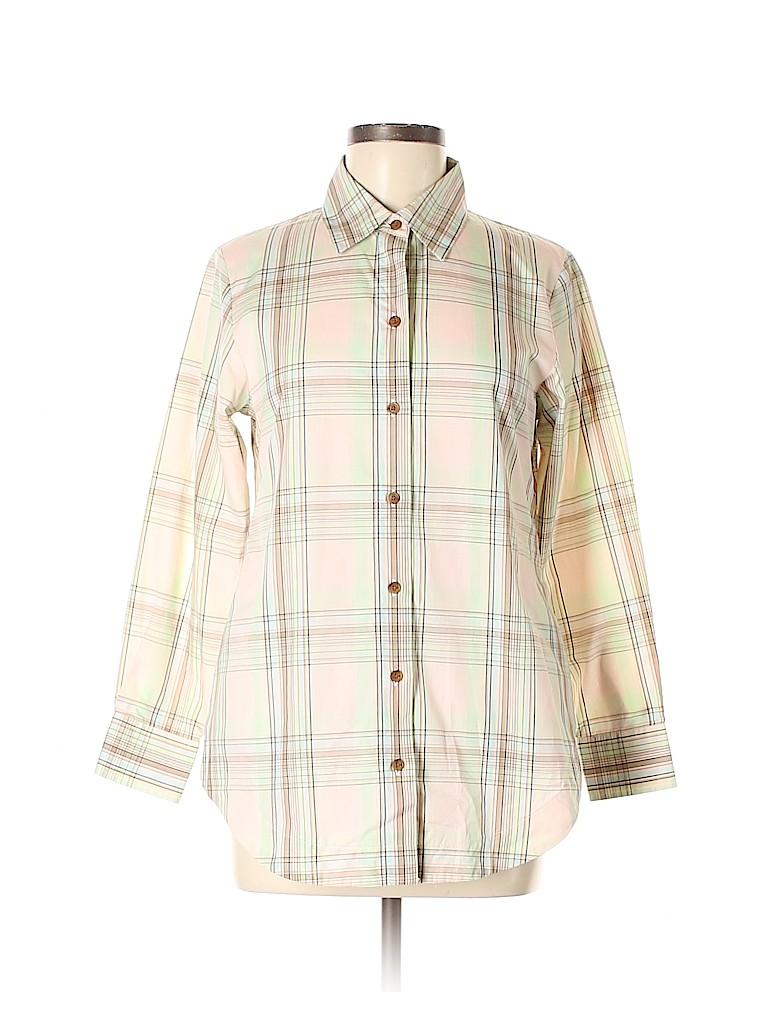 Pendleton Women 3/4 Sleeve Button-Down Shirt Size 6 (Petite)