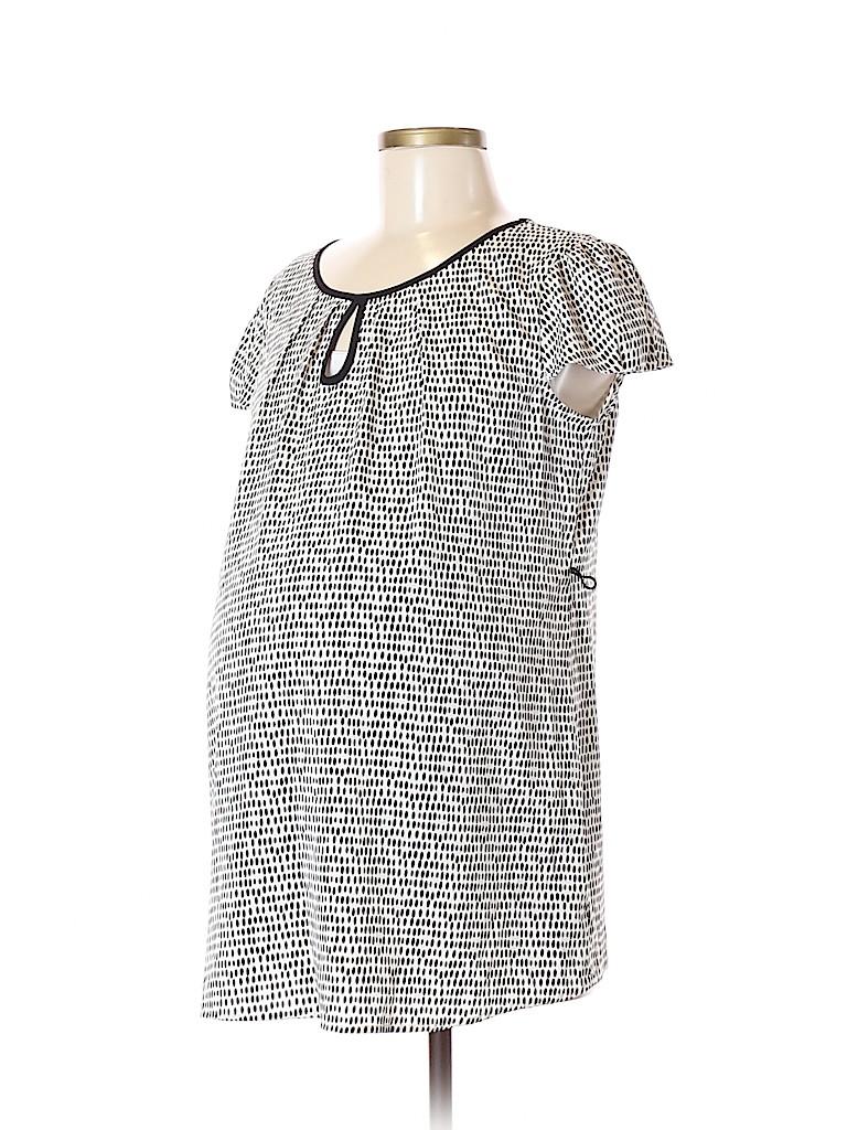 Oh Baby By Motherhood Women Short Sleeve Blouse Size M (Maternity)
