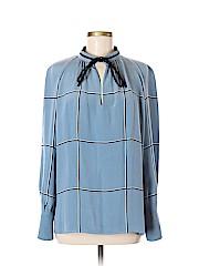 Derek Lam Long Sleeve Silk Top