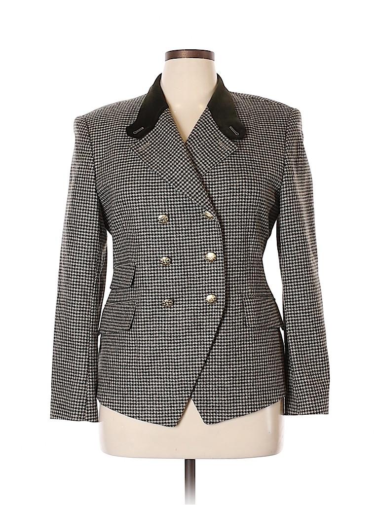 Escada by Margaretha Ley Women Wool Blazer Size 44 (EU)