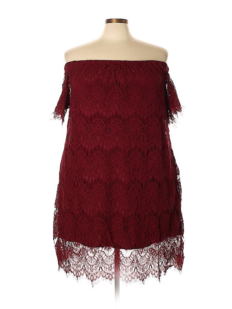 City Chic Women Casual Dress Size 24 Plus (XXL) (Plus)