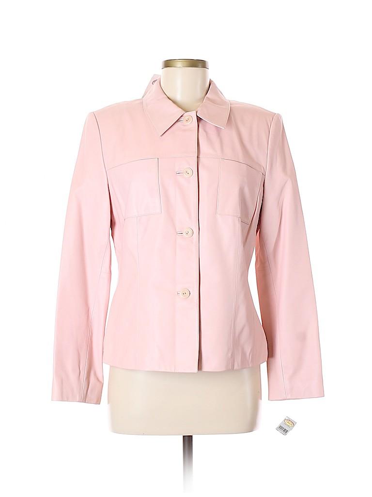 Talbots Women Leather Jacket Size M