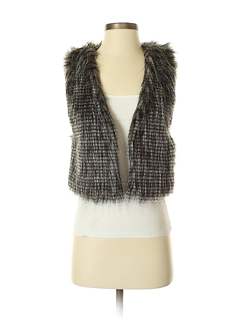 Tart Collections Women Faux Fur Vest Size S