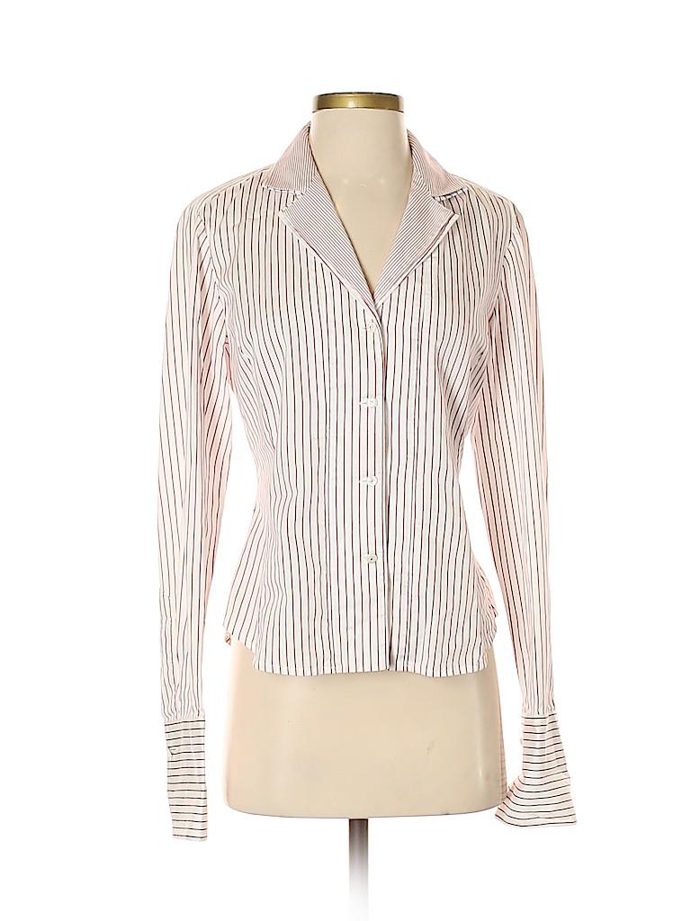 Jones New York Signature Women Long Sleeve Button-Down Shirt Size S