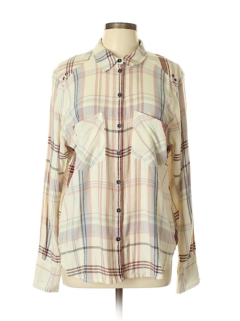 Free People Women Long Sleeve Button-Down Shirt Size M