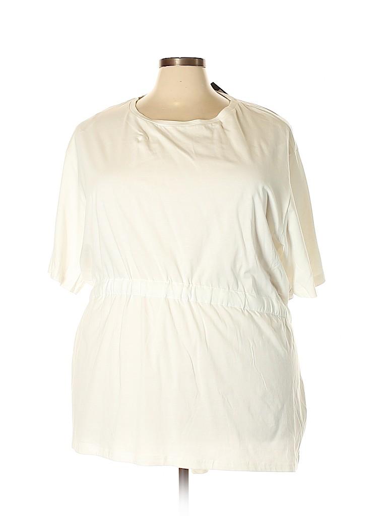 City Chic Women Short Sleeve Top Size 24 Plus (XXL) (Plus)