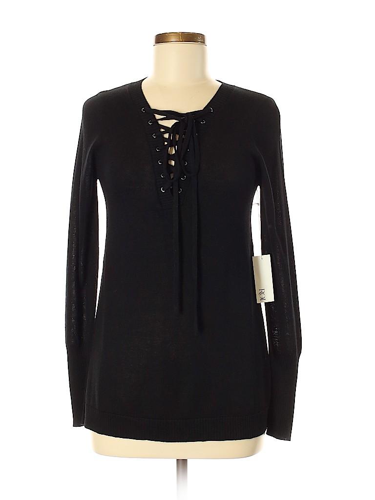 Roi Women Silk Pullover Sweater Size M