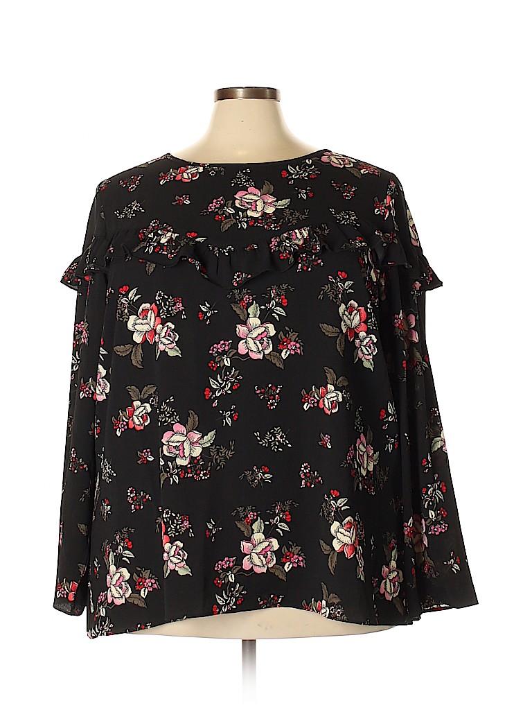 City Chic Women Long Sleeve Blouse Size 24 Plus (XXL) (Plus)