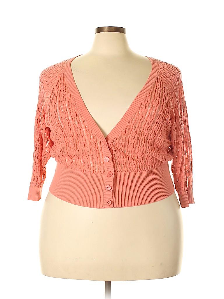 7eb184f2d07 Torrid 100% Cotton Solid Coral Cardigan Size 3X Plus (3) (Plus) - 71 ...