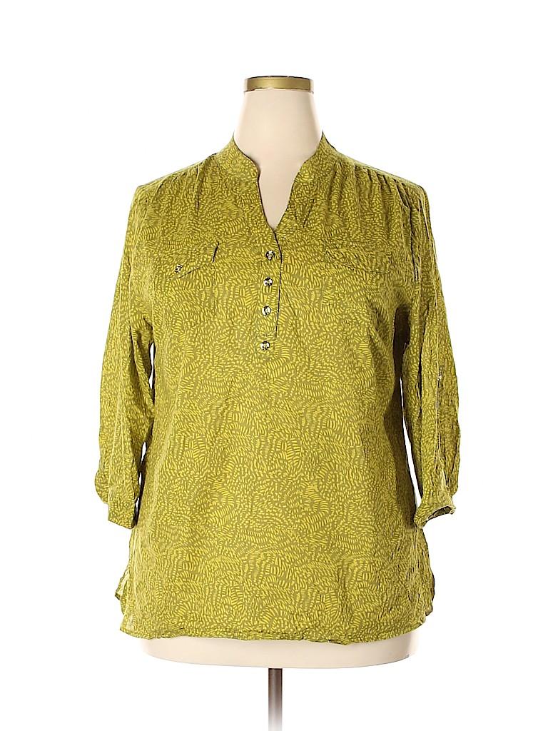 Susan Bristol Women 3/4 Sleeve Blouse Size 1X (Plus)