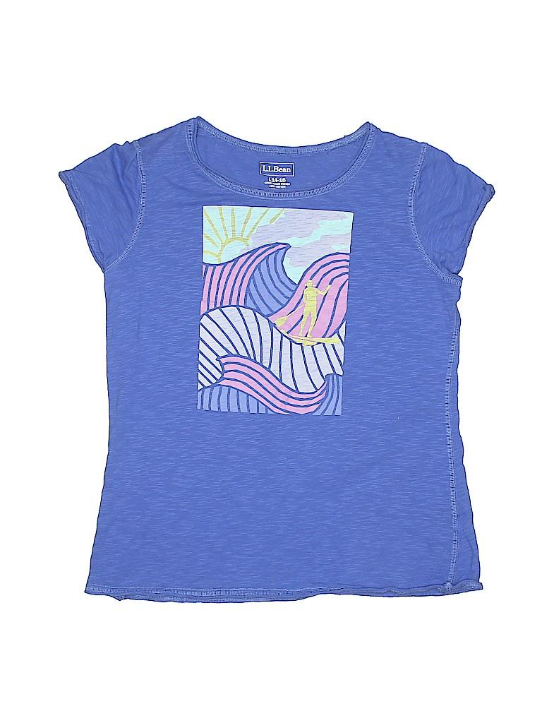 L.L.Bean Girls Short Sleeve T-Shirt Size 14 - 16