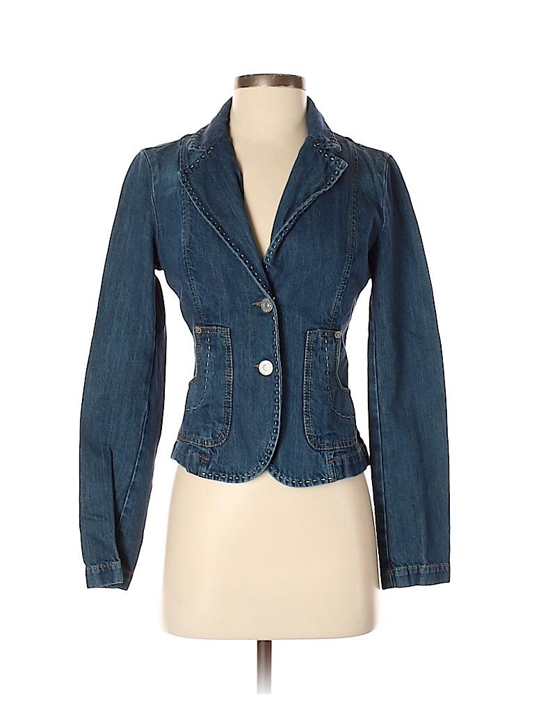 Sisley Women Denim Jacket Size 40 (IT)