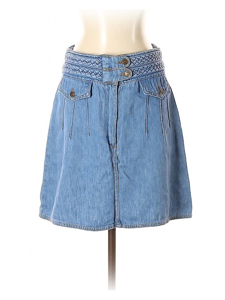 Free People Women Denim Skirt Size 2