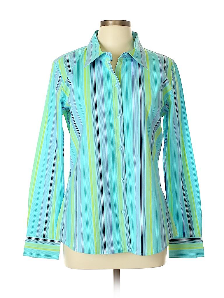 Bamboo Traders Women Long Sleeve Button-Down Shirt Size XL