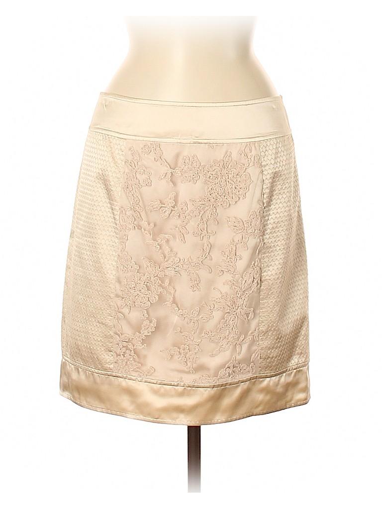 BCBGMAXAZRIA Women Silk Skirt Size 8