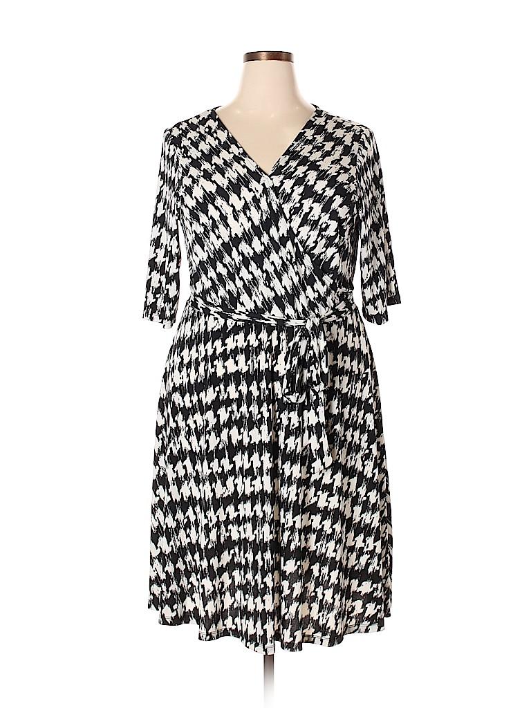 Sandra Darren Women Casual Dress Size 16 (Plus)