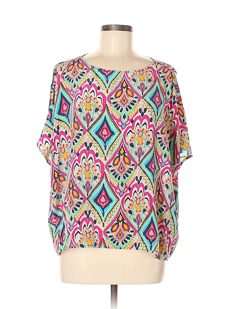 Lilly Pulitzer Women Short Sleeve Silk Top Size M
