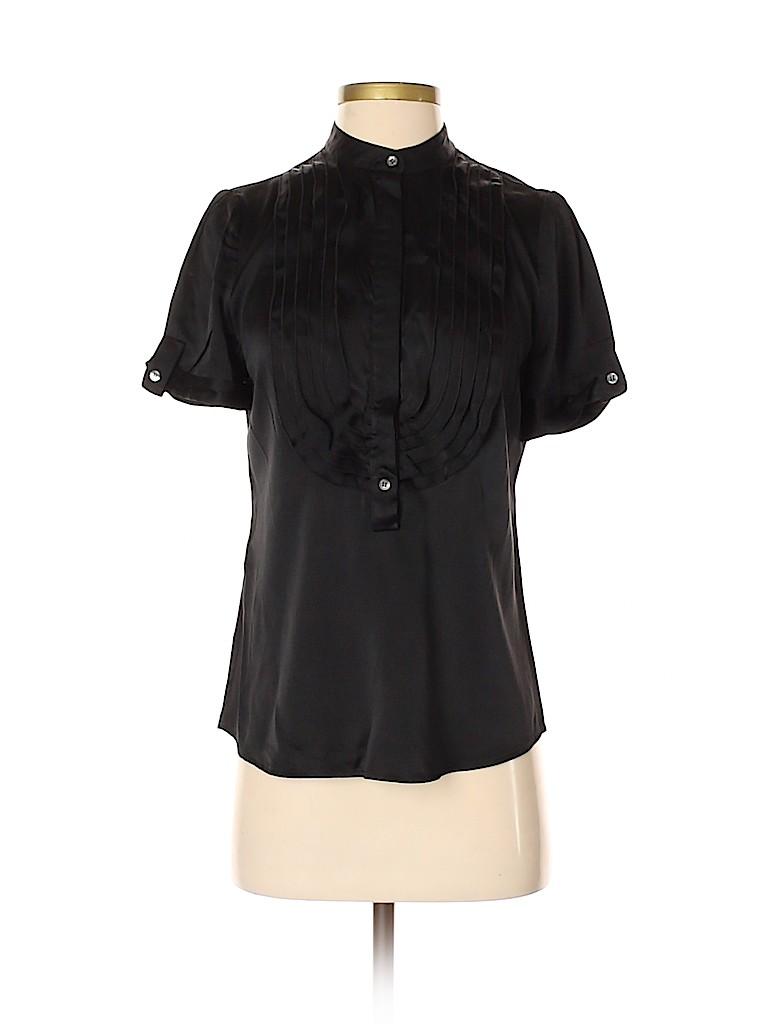 BCBGMAXAZRIA Women Short Sleeve Silk Top Size S