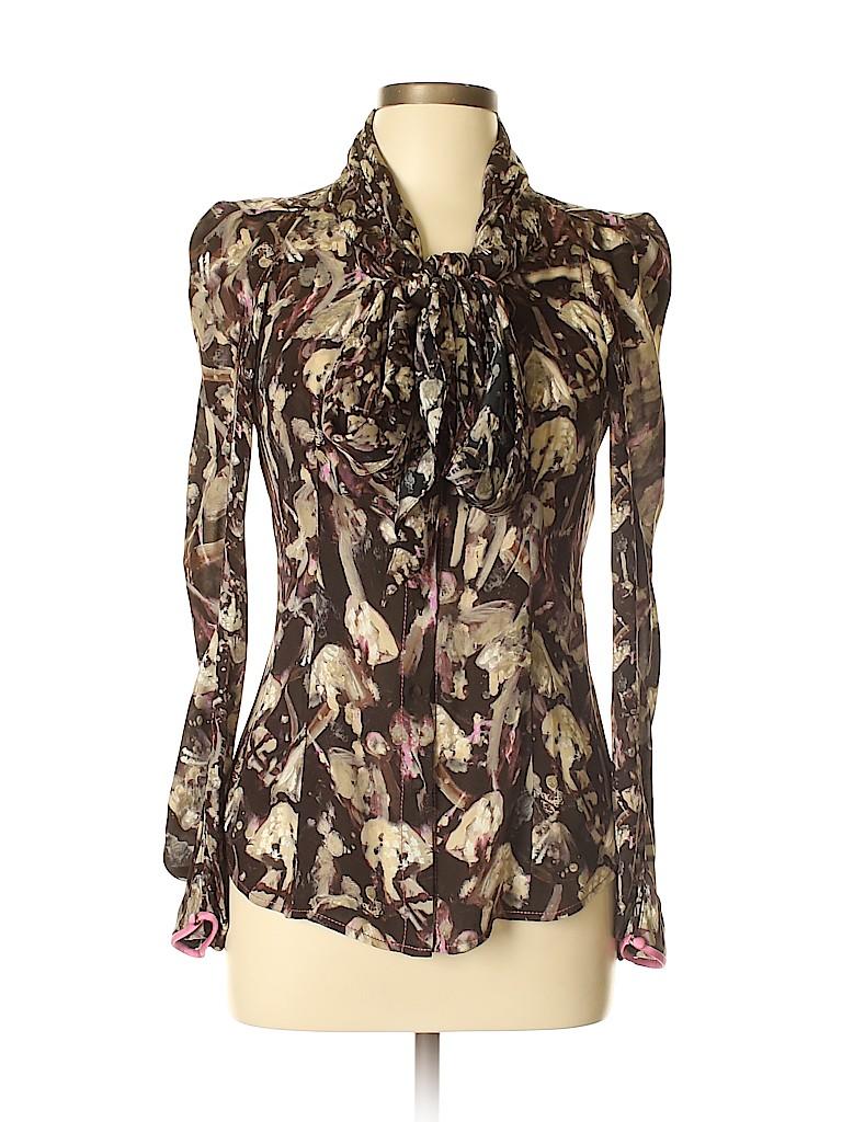 Zac Posen Women Long Sleeve Silk Top Size 8