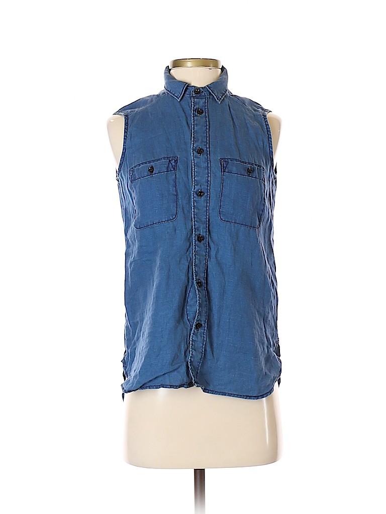 Madewell Women Sleeveless Button-Down Shirt Size XS