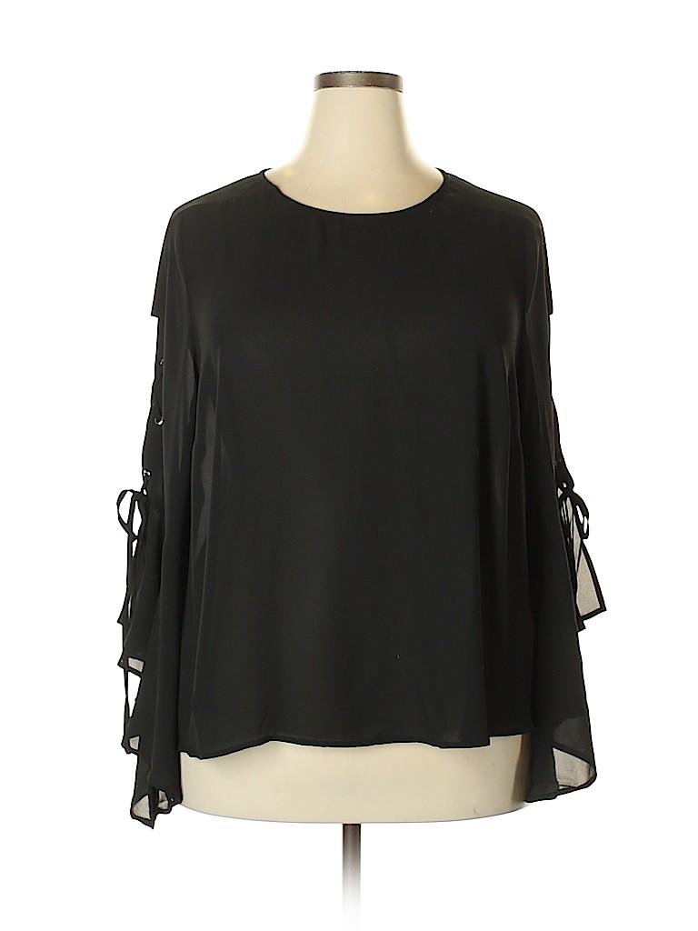 ELOQUII Women Long Sleeve Blouse Size 20 (Plus)