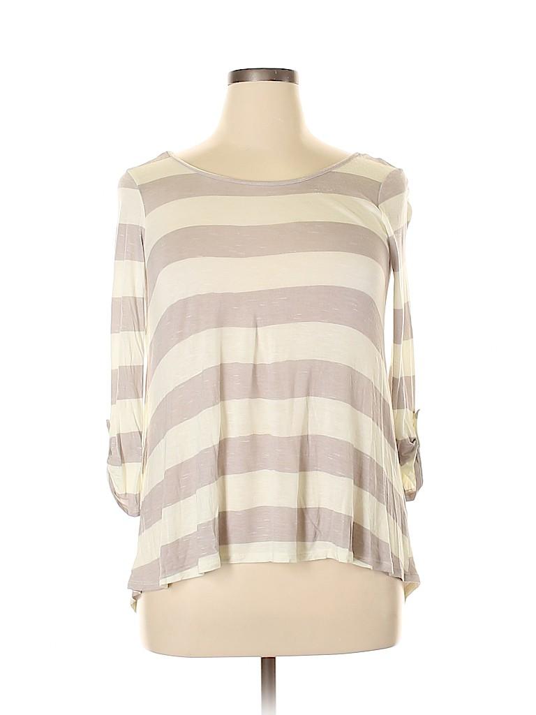 Ella Moss Women 3/4 Sleeve T-Shirt Size L