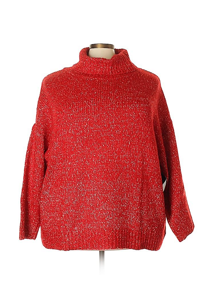 ELOQUII Women Turtleneck Sweater Size 26 - 28 Plus (Plus)