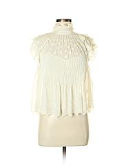 Ulla Johnson Short Sleeve Silk Top
