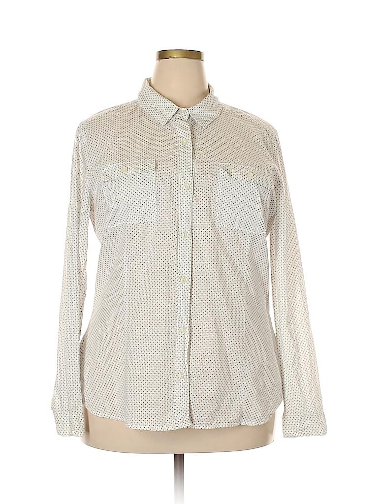 Ann Taylor LOFT Women Long Sleeve Button-Down Shirt Size XXL