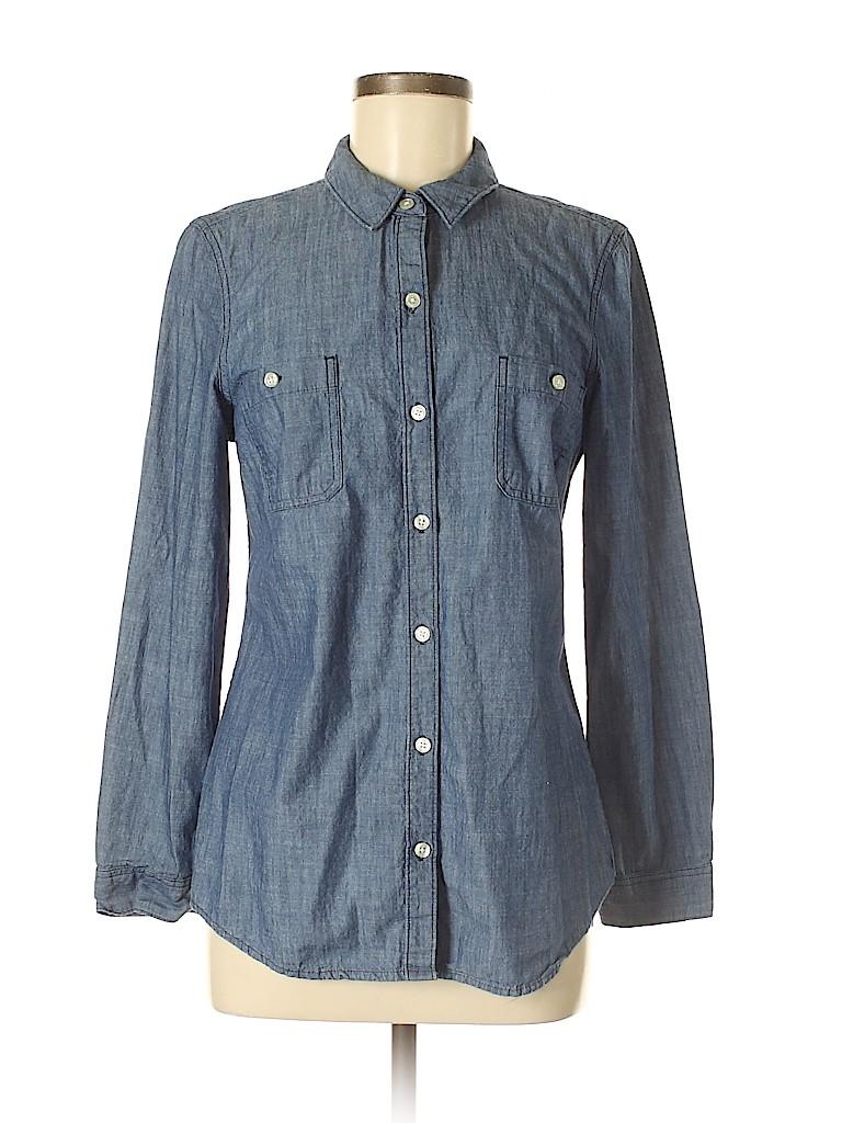 Old Navy Women Long Sleeve Button-Down Shirt Size M