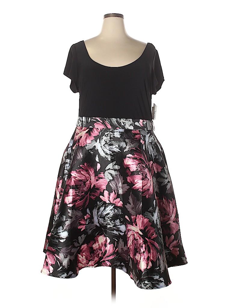 Olivia Matthews Women Casual Dress Size 24 (Plus)