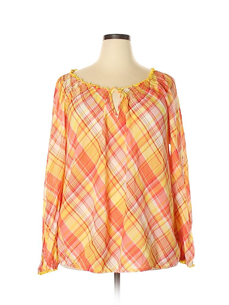 Lane Bryant Women Long Sleeve Blouse Size 22 - 24 Plus (Plus)