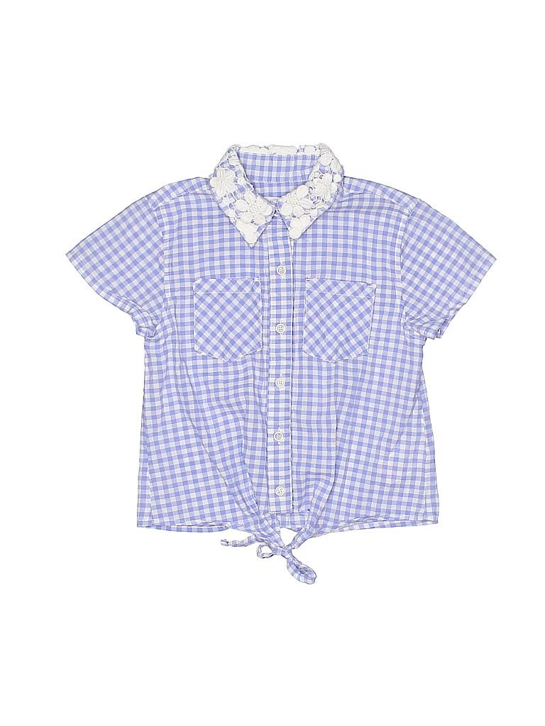 Pumpkin Patch Girls Short Sleeve Button-Down Shirt Size 6