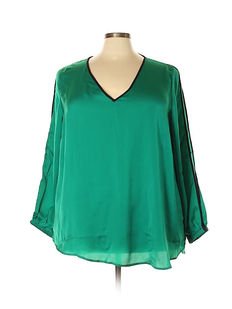 ELOQUII Women Long Sleeve Blouse Size 26 (Plus)