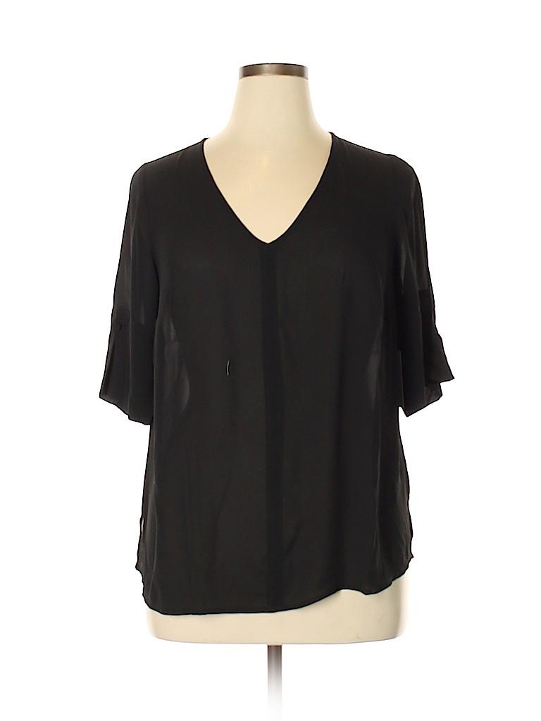 ELOQUII Women Short Sleeve Blouse Size 14 (Plus)