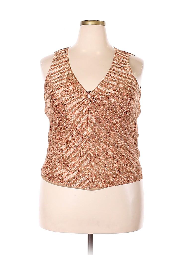 Talbots Women Sleeveless Silk Top Size 18 (Plus)