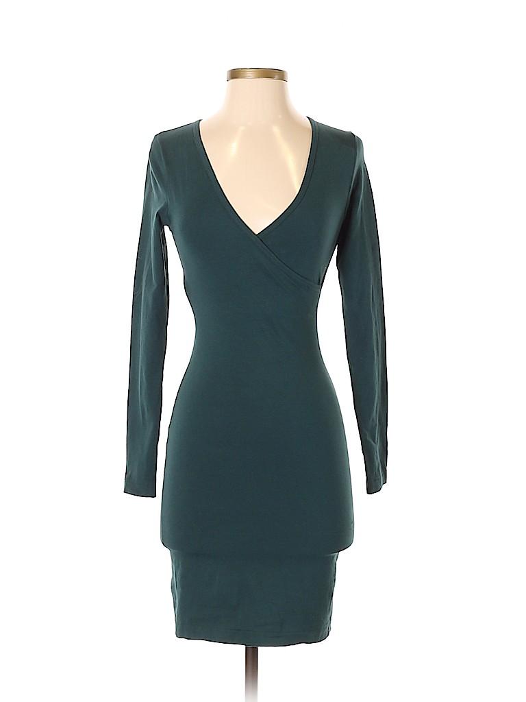 d3ccbd7bd5d American Apparel Solid Dark Green Casual Dress Size S - 62% off ...
