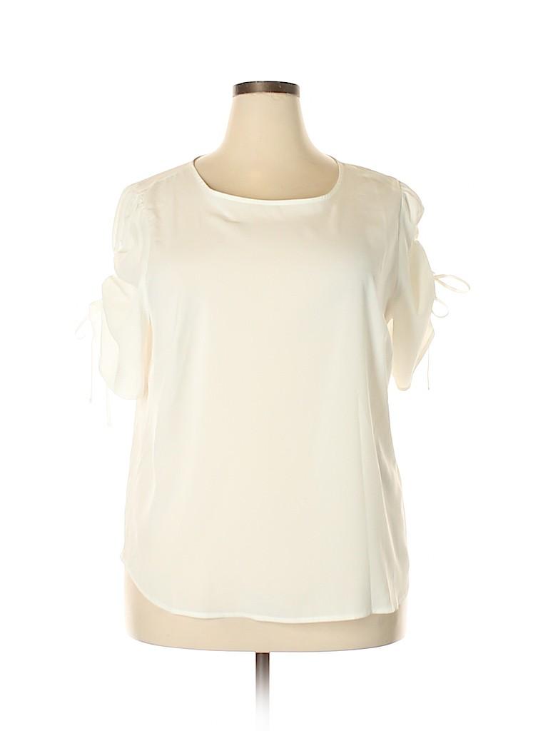 ELOQUII Women Short Sleeve Blouse Size 20 (Plus)