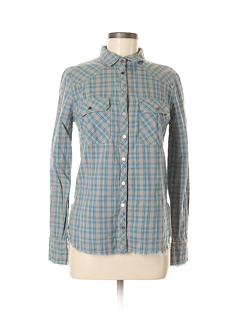 Zadig & Voltaire Women Long Sleeve Button-Down Shirt Size M