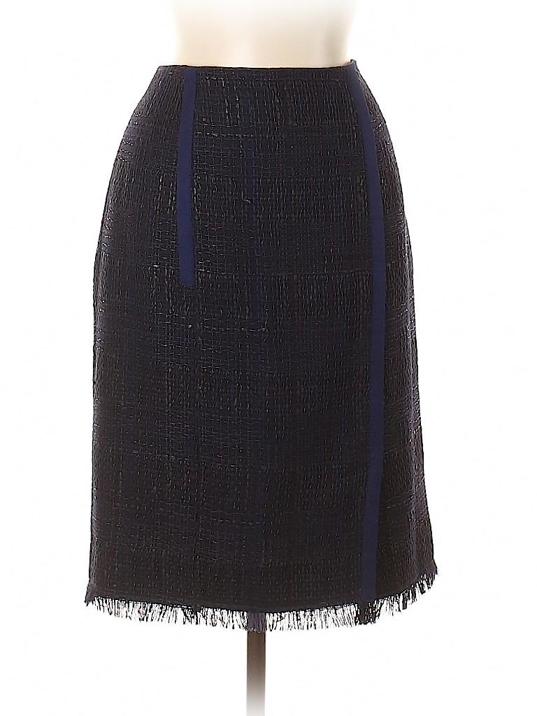 Carolina Herrera Women Wool Skirt Size 8