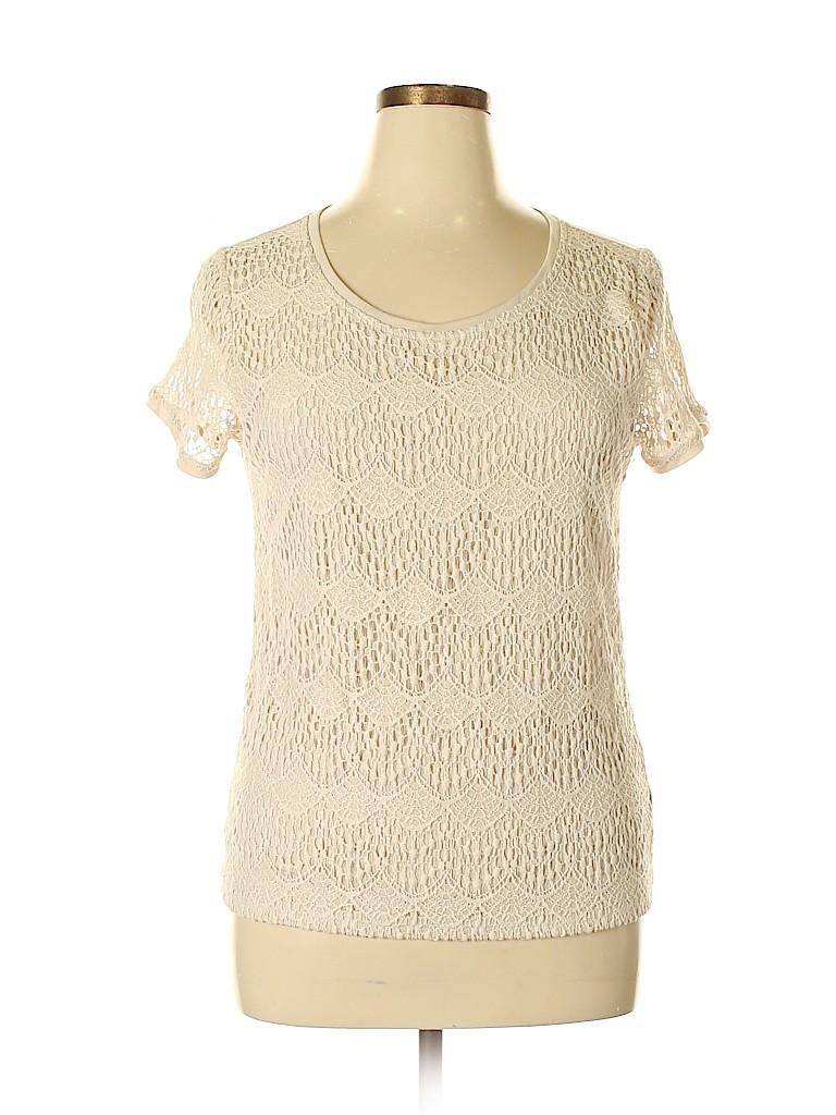89th & Madison Women Short Sleeve Blouse Size XL