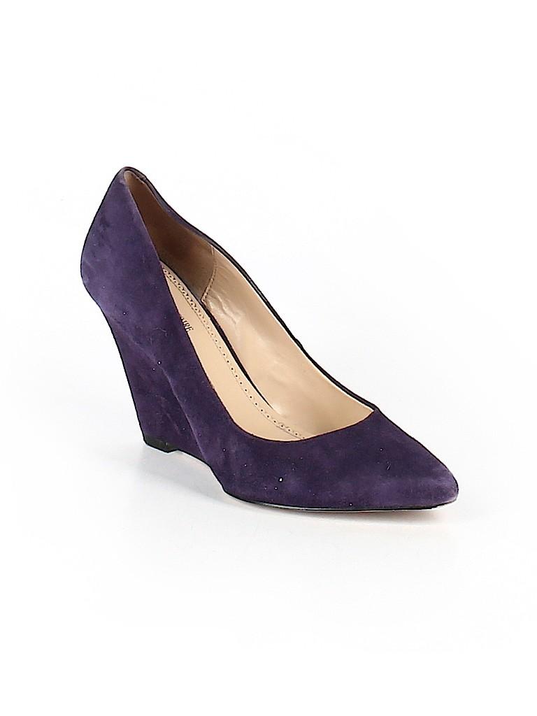Pour La Victoire Solid Dark Purple Wedges Size 8 88 Off Thredup