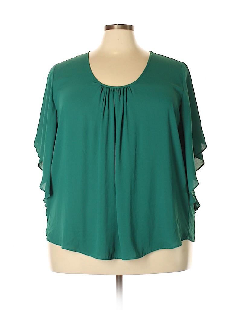 Karen Kane Women 3/4 Sleeve Blouse Size 3X (Plus)