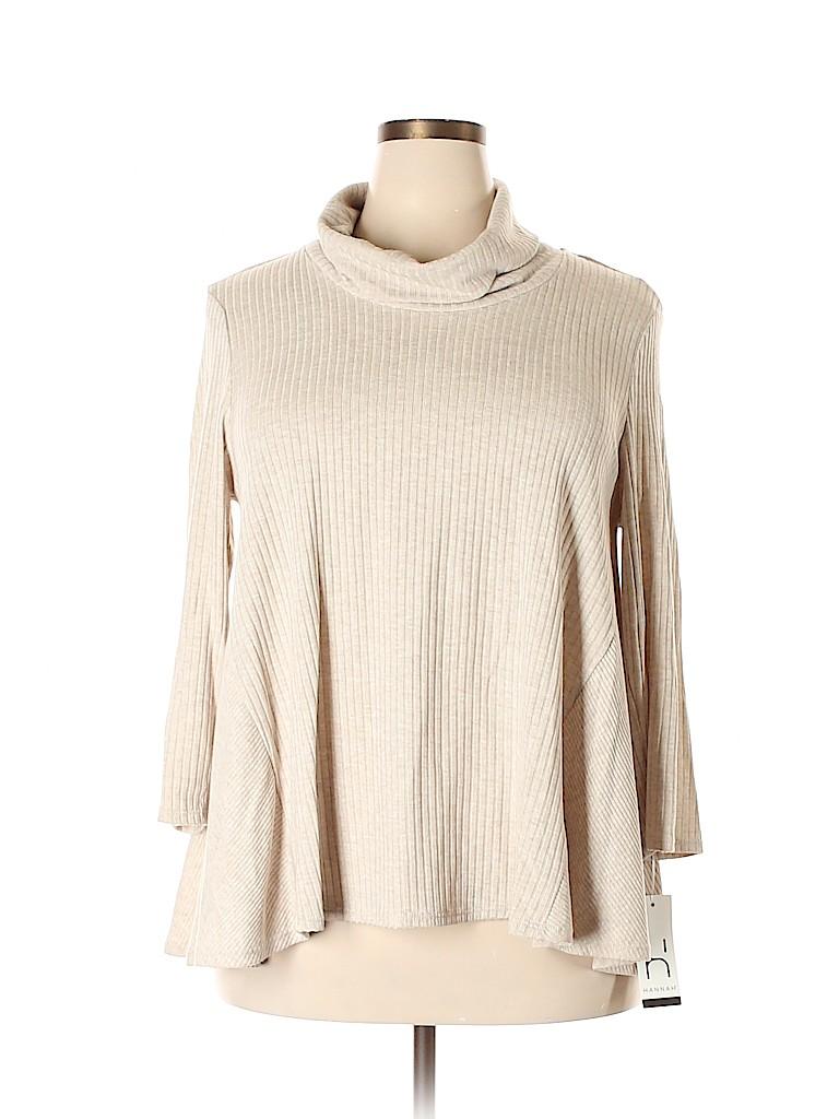 Hannah Women Pullover Sweater Size 2X (Plus)
