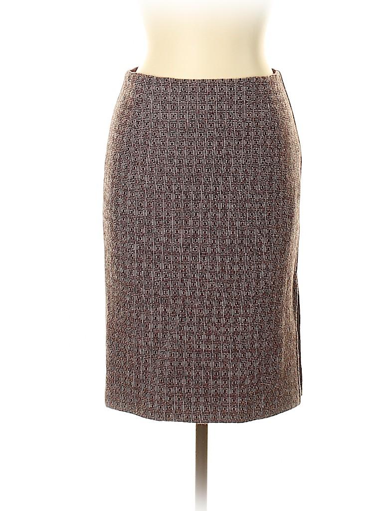 Carolina Herrera Women Wool Skirt Size 6