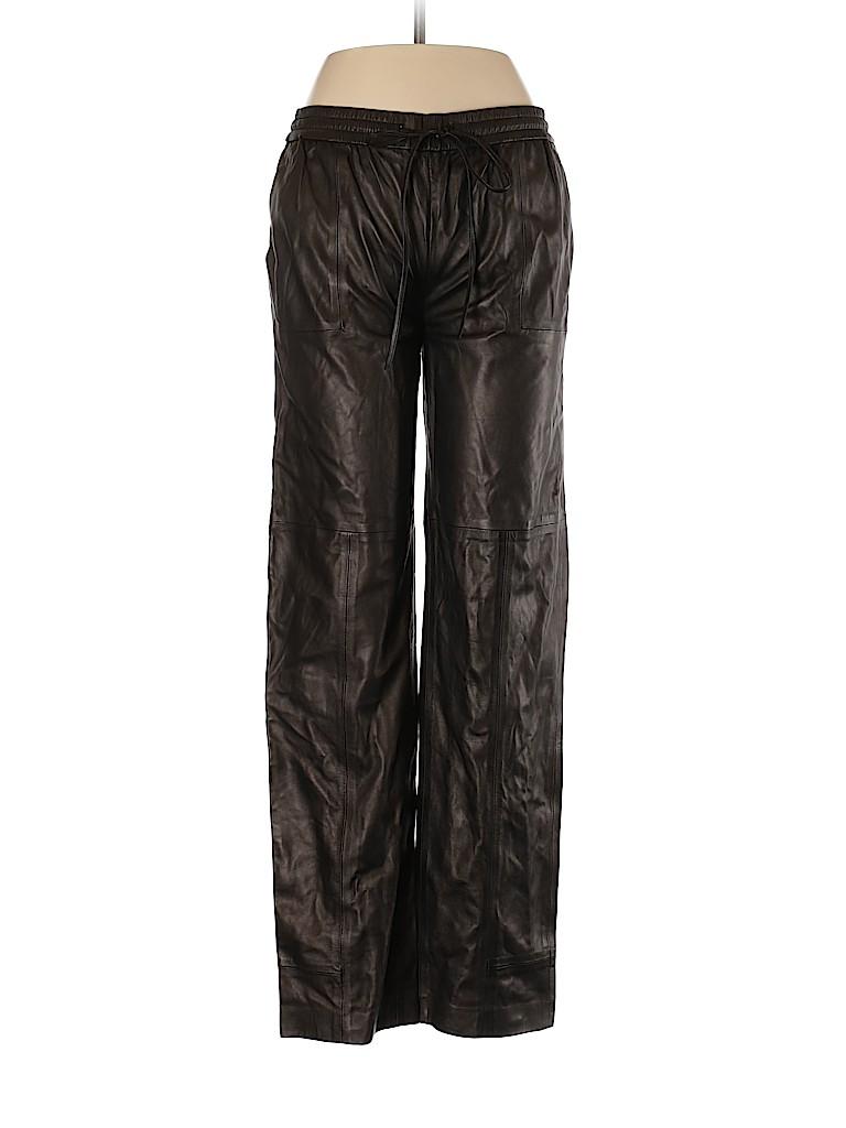 J Brand Women Leather Pants Size 4
