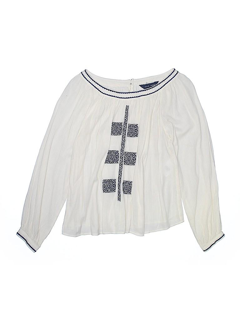 Ralph Lauren Girls Long Sleeve Blouse Size 14